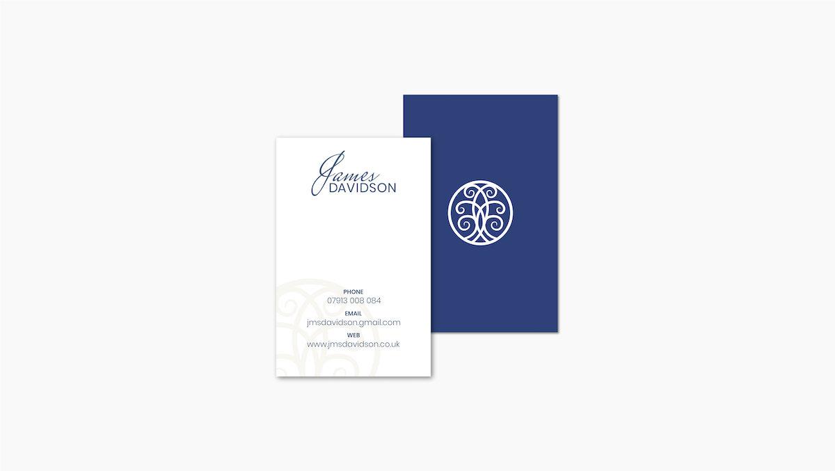 James Davidson Acupuncturist business card design