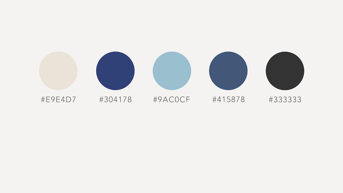 James Davidson Acupuncturist branding colours