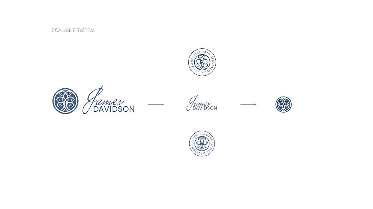 James Davidson Acupuncturist branding identity system