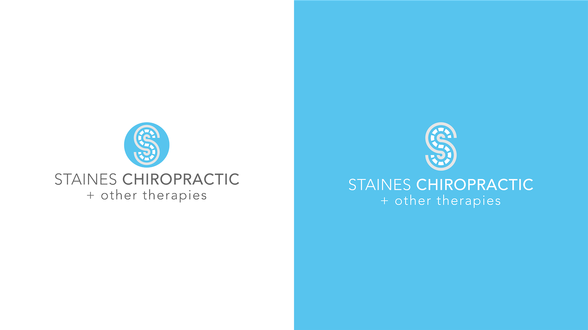Staines Chiropractic clinic logo design