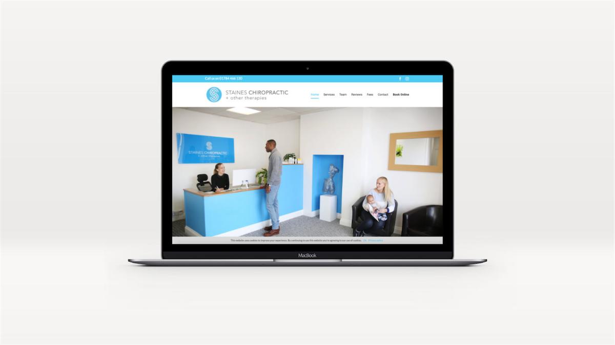 Staines Chiropractic website design