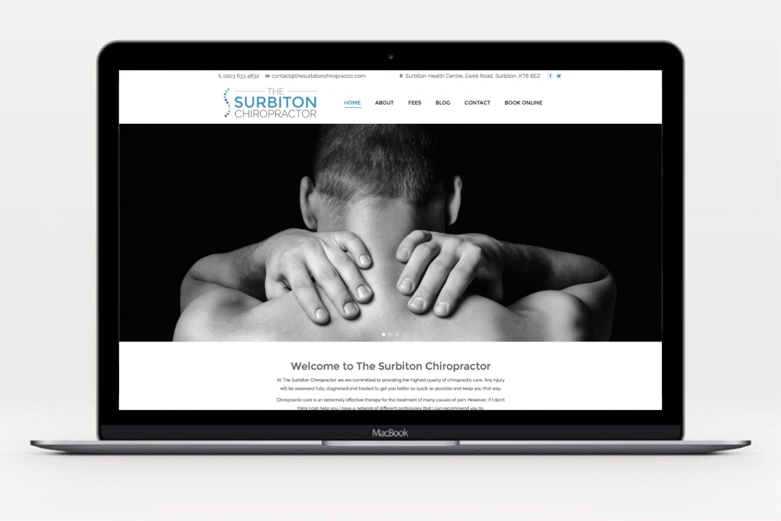 Chiropractic clinic website design